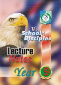LECTURE NOTE YEAR 9